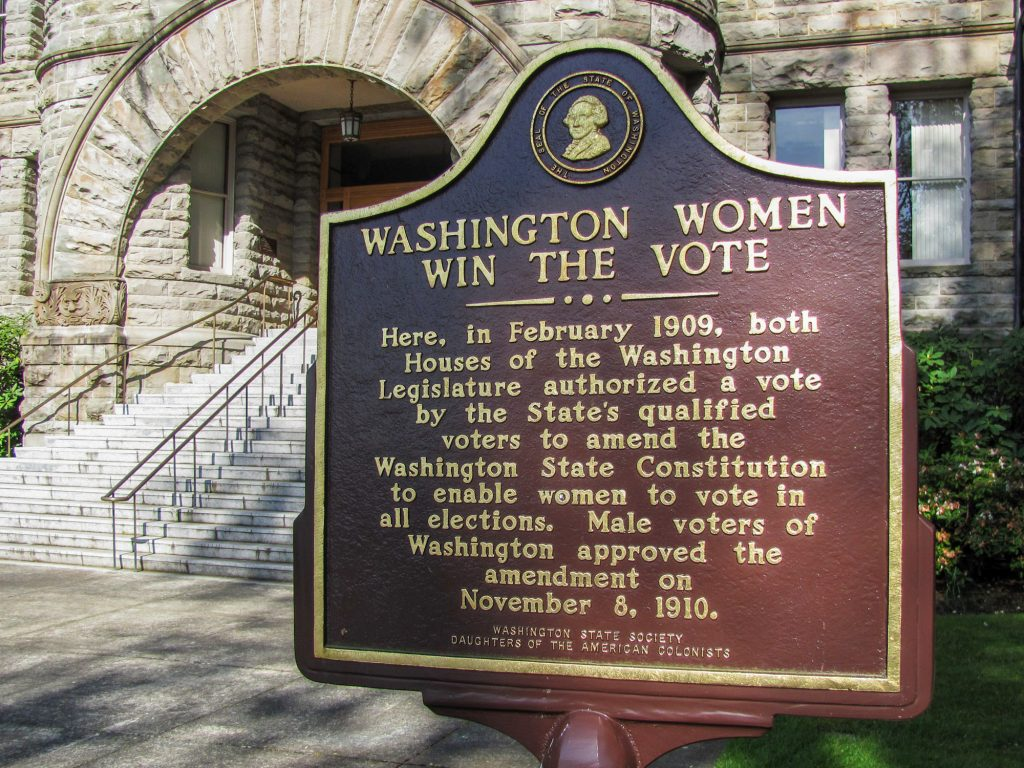 Women Win the Vote Marker